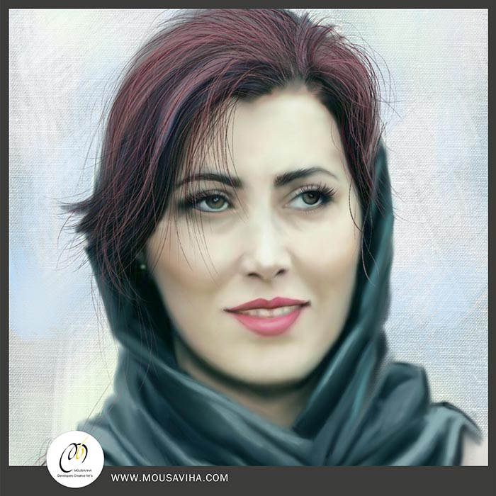 نقاشی دیجیتال از پرتره
