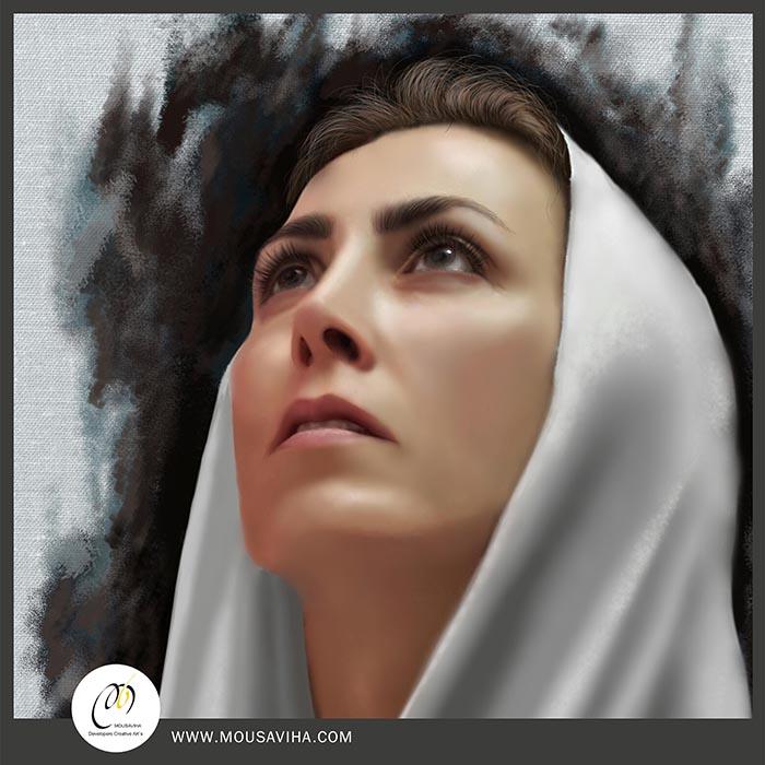 نقاشی پرتره،طراحی دیجیتال پرتره