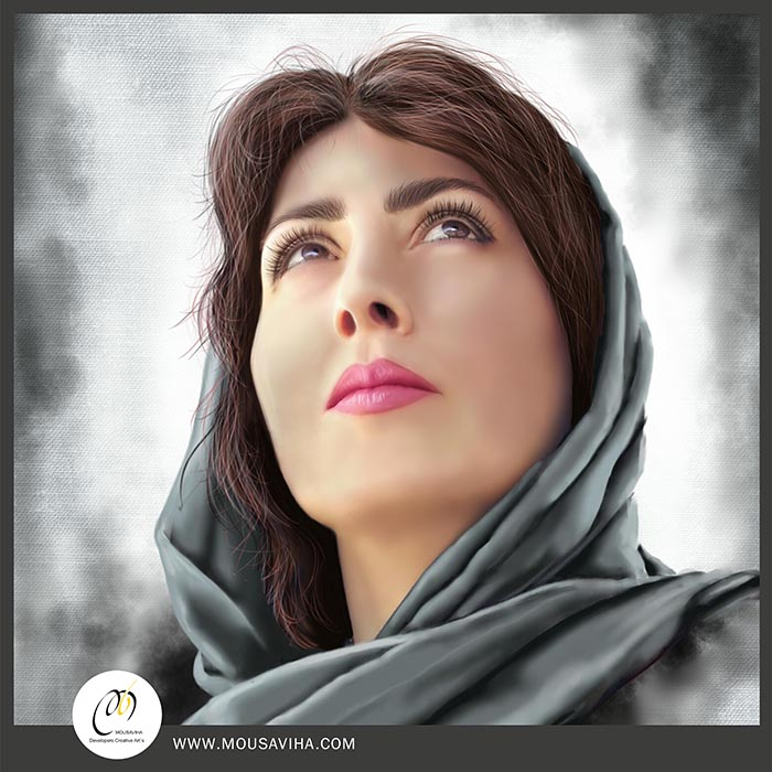 نقاشی دیجیتال ، digitalpainting,mousavihagallery